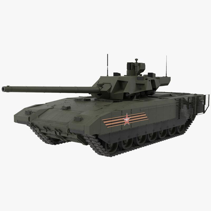 t-14 armata green clean 3d model