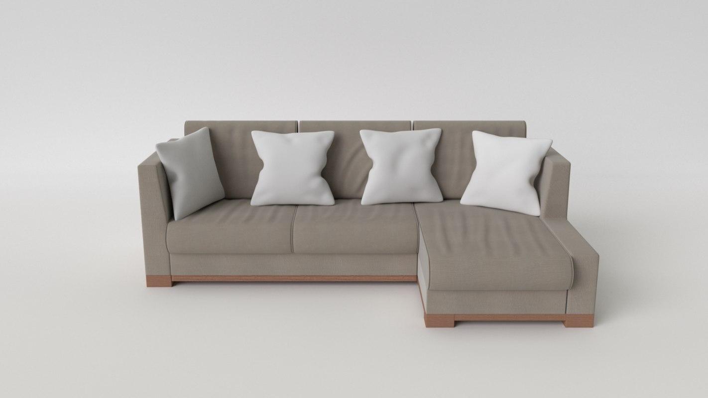 3d blend blender sofa