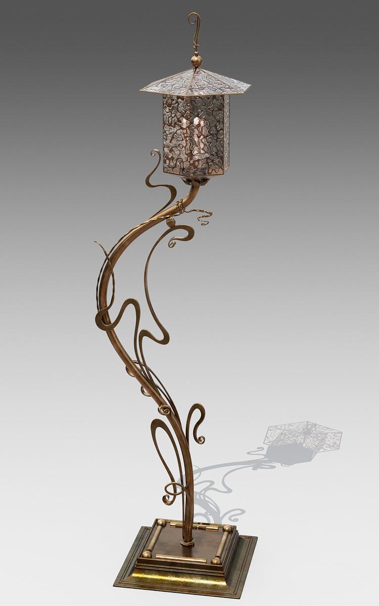 3d model wrought iron lamp