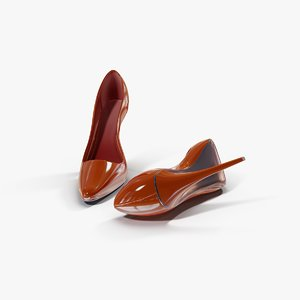 shoes red female c4d