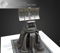 3d model futuristic radar tower