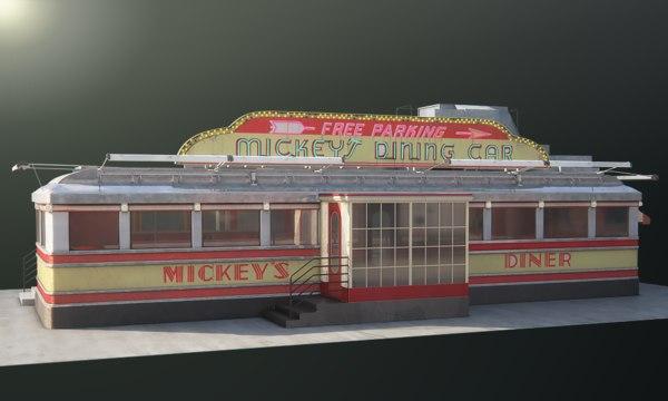 3d diner mickey s model