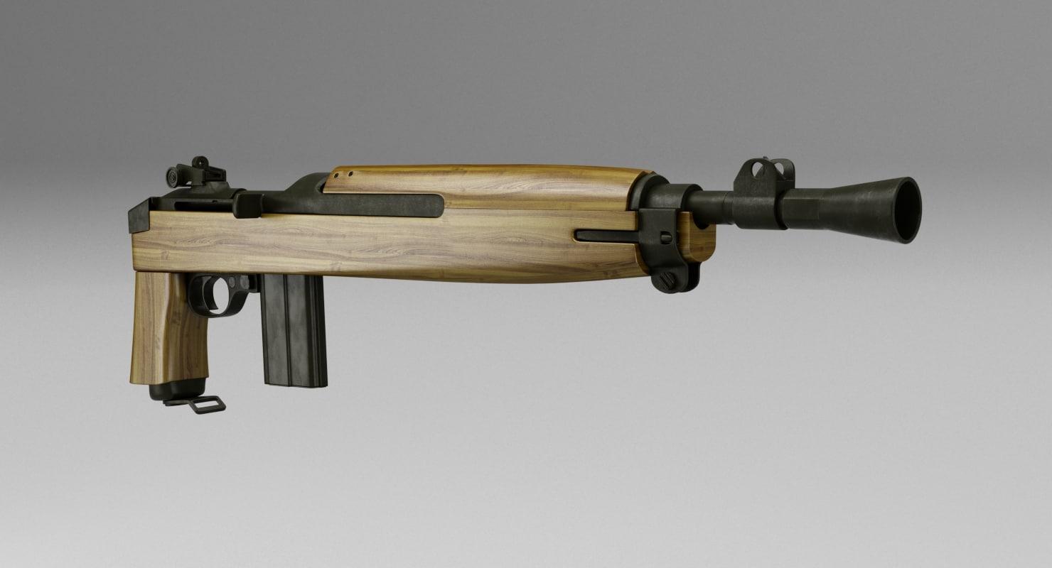 3d model carbine pistol m1