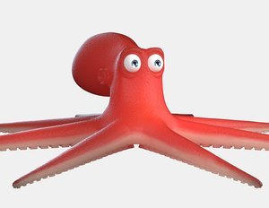 cartoon octopus 3d obj