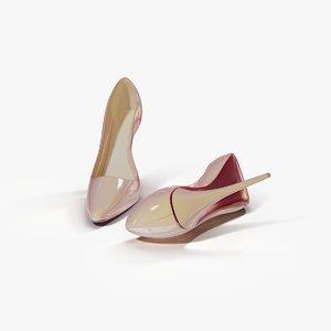 3d women s shoes nude model