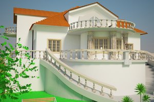 country house 3d max