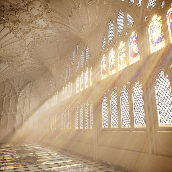 3d max gloucester cathedral hall