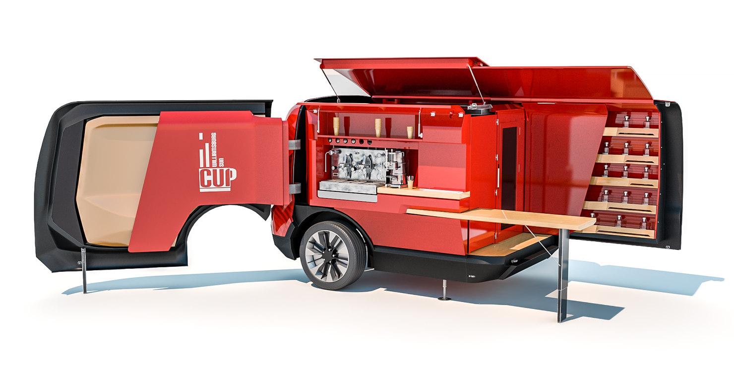 peugeot food truck 3d model