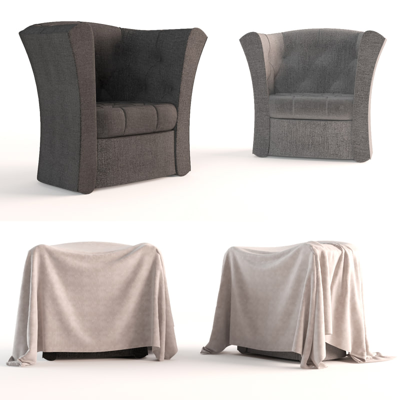 single seat sofa 3d model