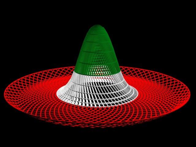 mexican sombrero 3d max