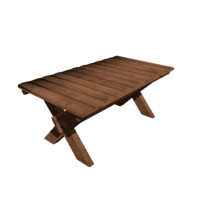 3d medieval wood table model