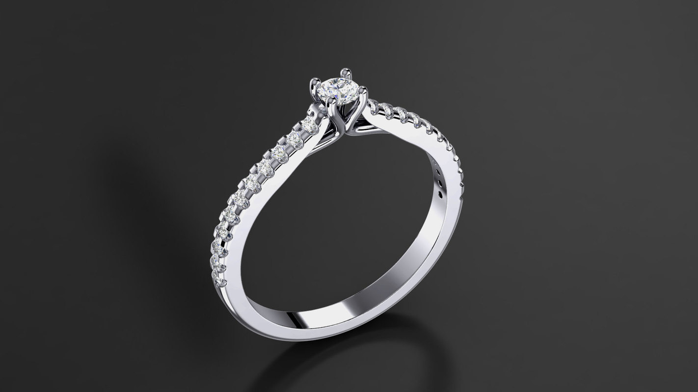 3d gem stone diamond model