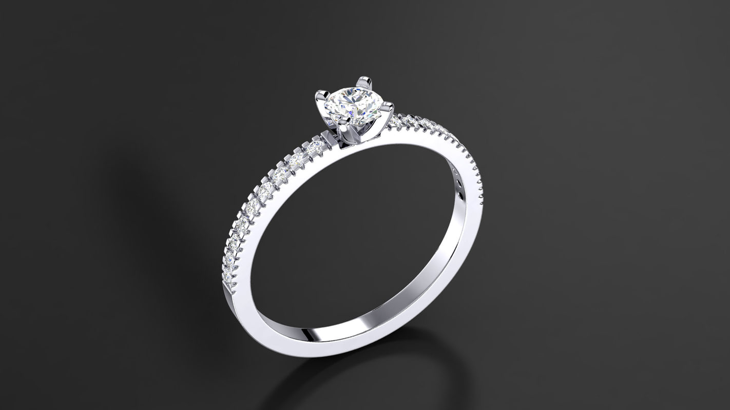 3d model diamond gem