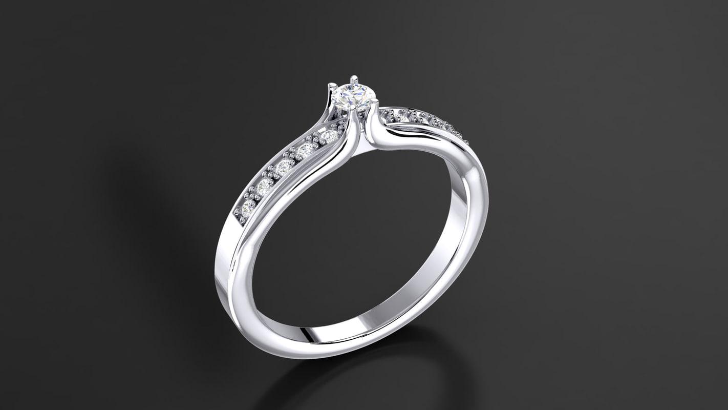 diamond gem 3d obj