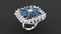 Flower Marquise_Ring