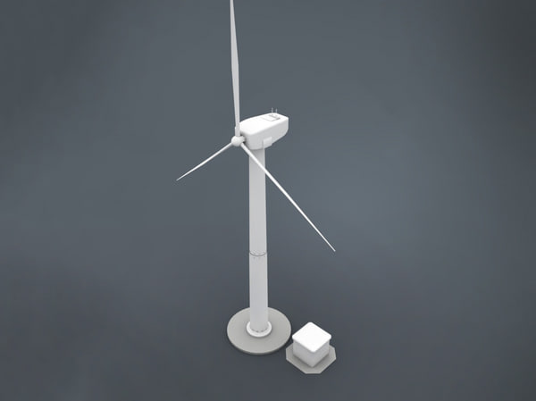 3d model electricity windmill