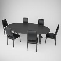 fendi casa table chair c4d