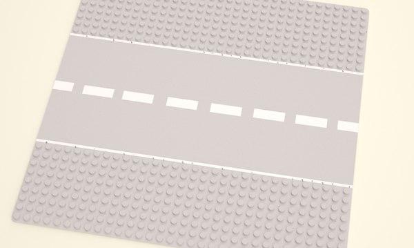 3d model of lego road board 25