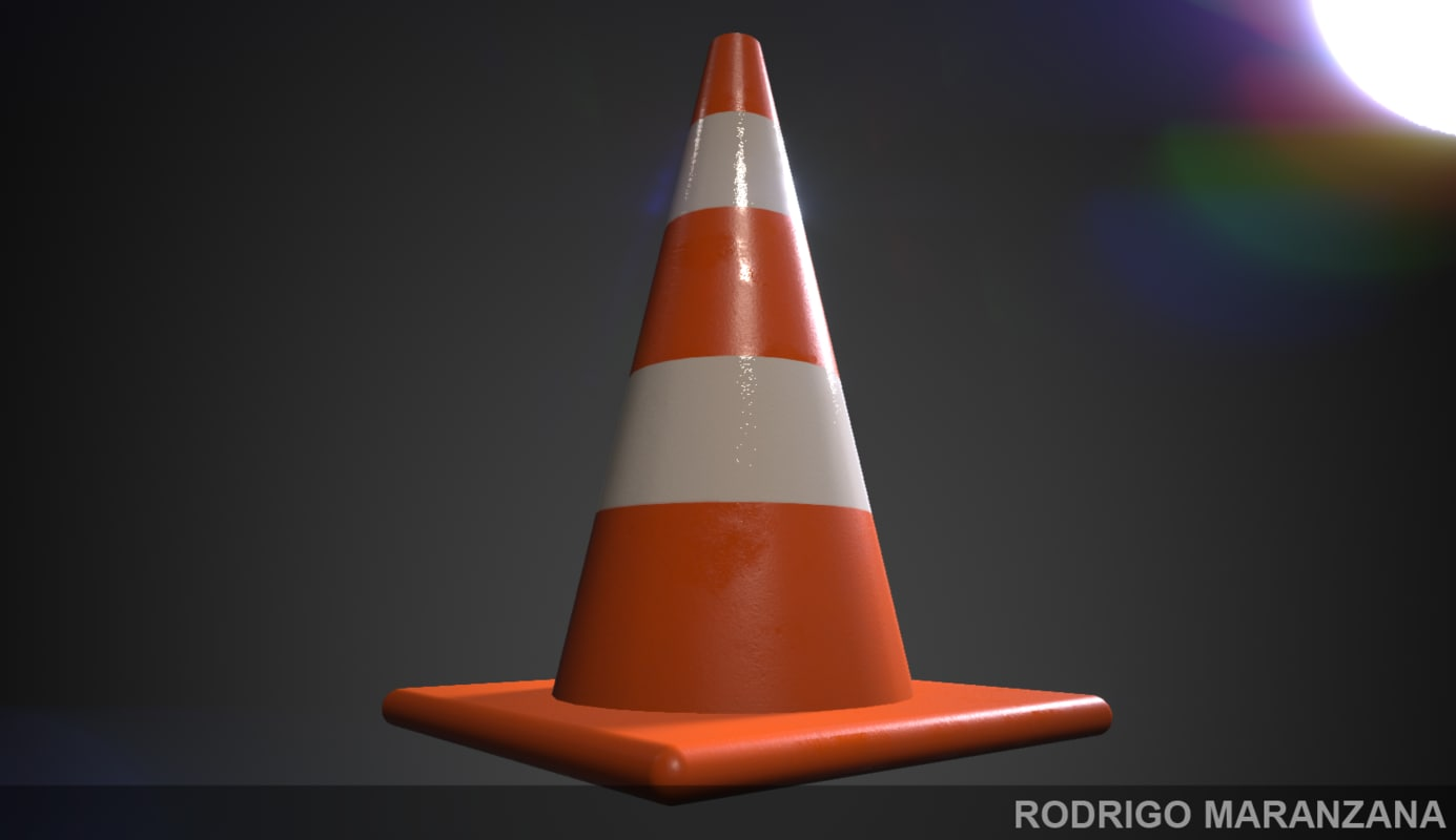 3d Traffic Cone 4k Model