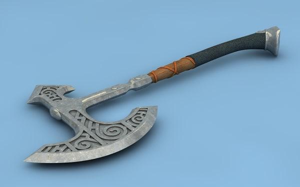 viking axe skyrim c4d