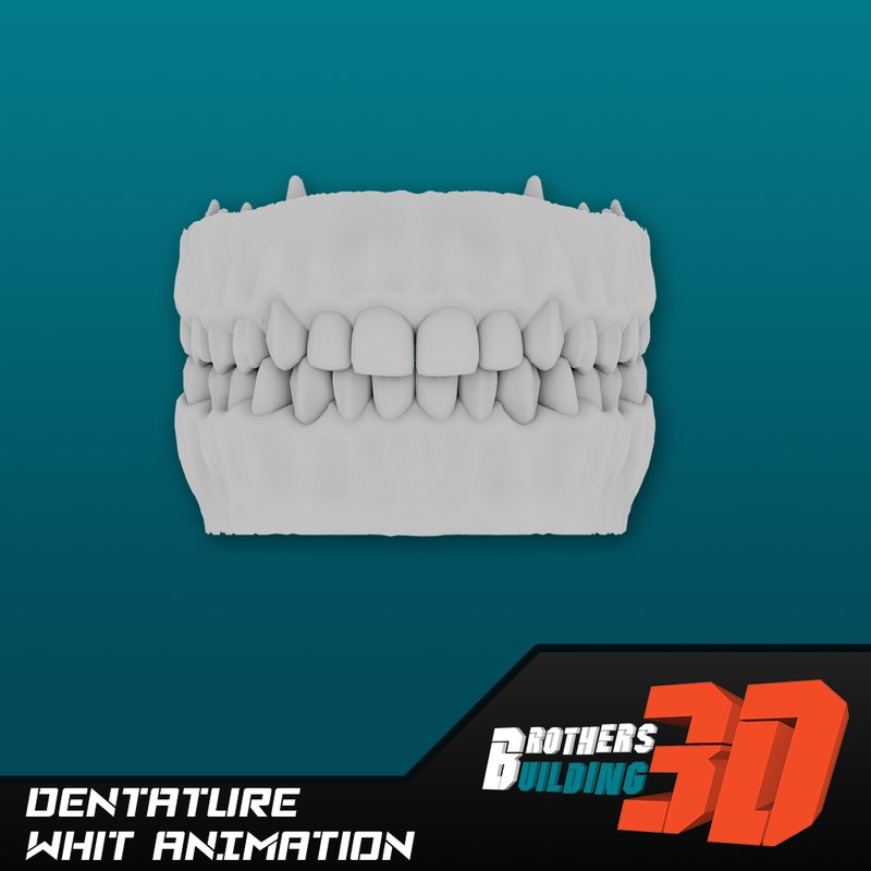 3d model animation dentature