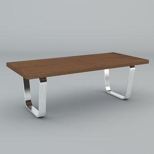 1970 table 3d model