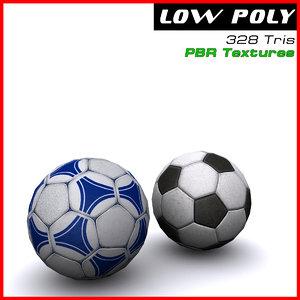 3d soccer balls model