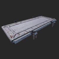 3d model sci-fi floor