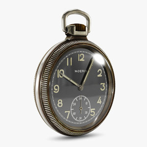 vintage pocket watch 3d obj