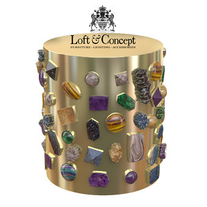 max bejeweled stool chair