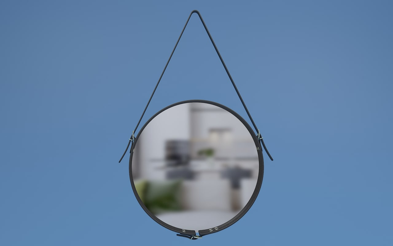 leather mirror 3d model