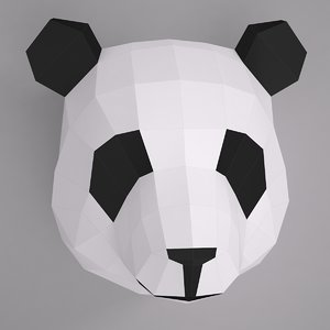 3d model paper panda