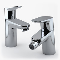 3d photorealistic hansgrohe focus faucets model
