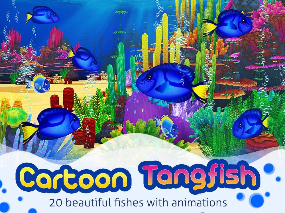 3d tang fish aquarium