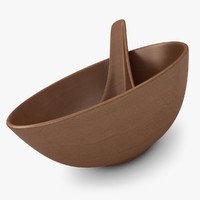 realistic chinese spoon bowl 3d max
