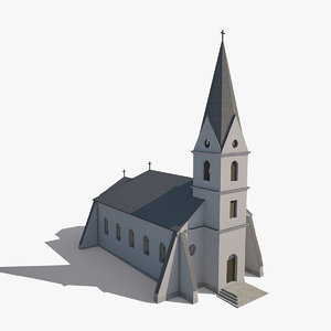structurally correct church 3d model