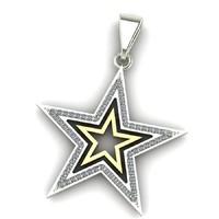 3d star pendant