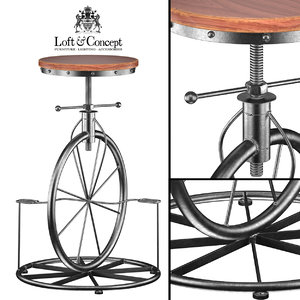 lovt bar stool bicycle 3d max