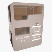 sleepbox hotels 3d model