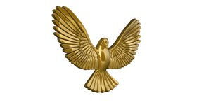 3d gold brooch
