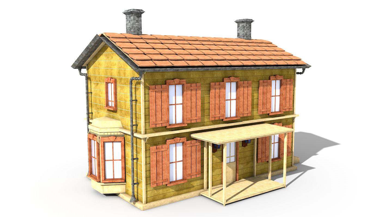 3d story building house model