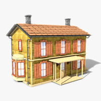 3d story building house model