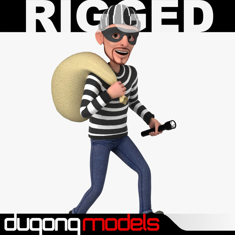 max using rigged cartoon thief