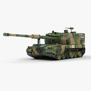 chinese plz 05 howitzer 3d model
