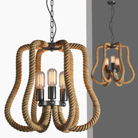 loft industrial lamps rope obj