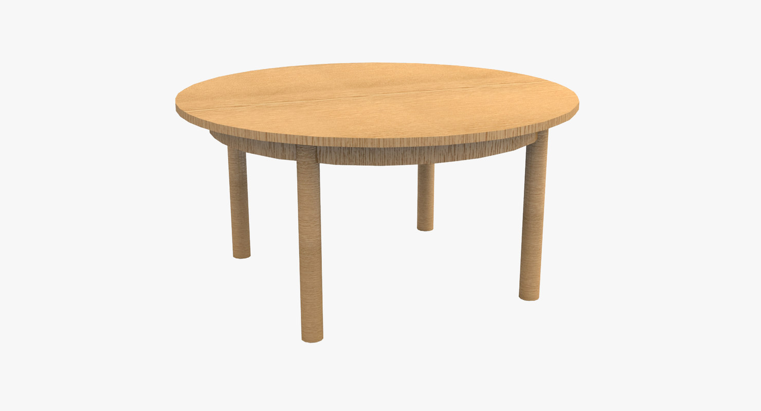 wooden table 3d max