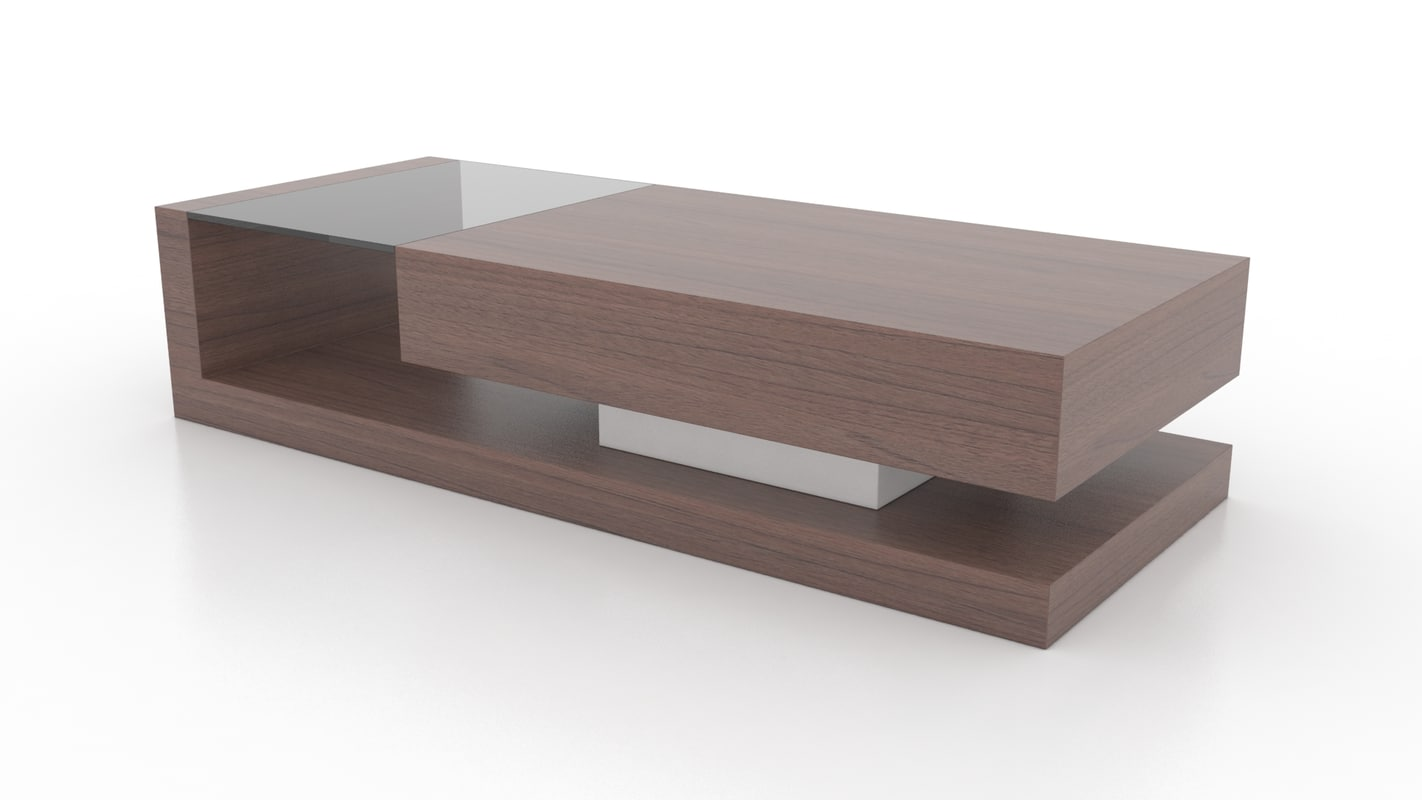 3ds walnut coffee table