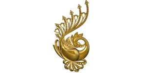 3d firebird gold brooch model