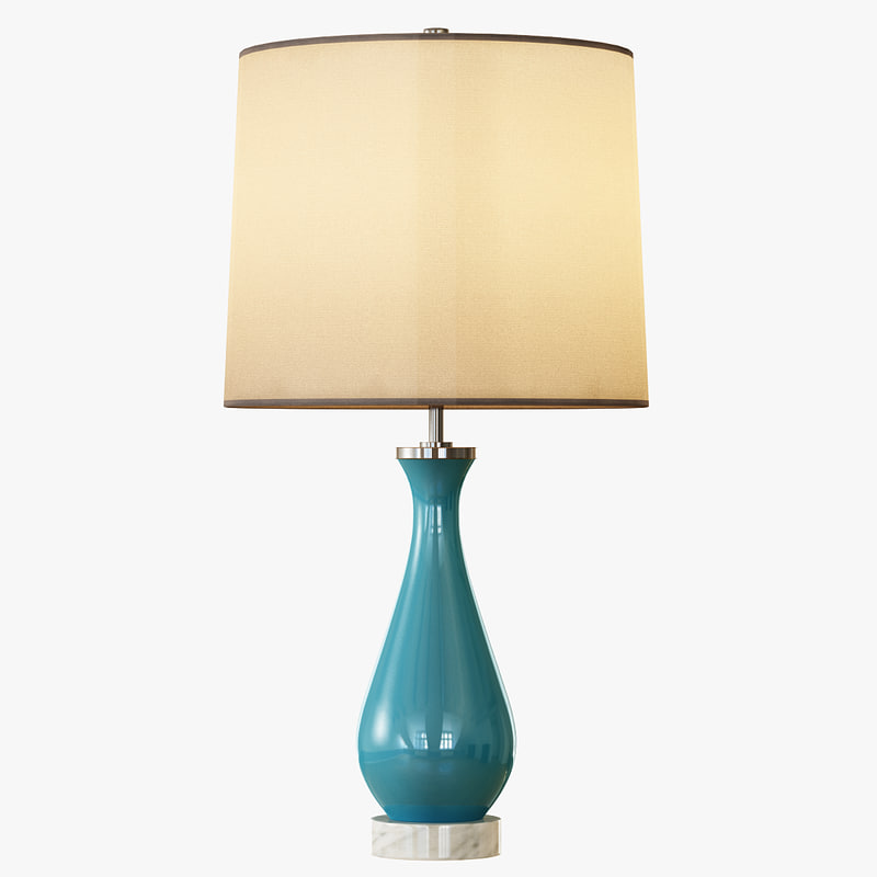 rejuvenation colored glass table lamp 3d max