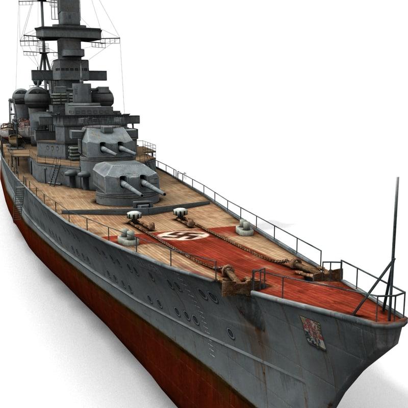 3d model german cruiser prinz eugen